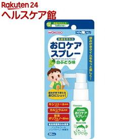 和光堂 にこピカ お口ケアスプレー 白ぶどう味(30ml)