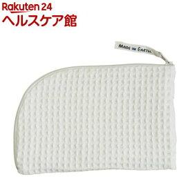 ワッフルポーチ Mサイズ きなり(1個)【メイドインアース】[生理用品]