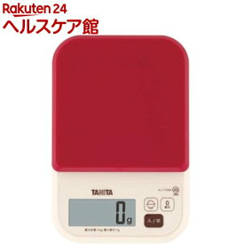 タニタ デジタルクッキングスケール レッド KJ-110M-RD(1コ入)【タニタ(TANITA)】