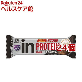 森永製菓 inバー プロテイン ベイクドビター(43g*24個セット)【ウイダーinバー】