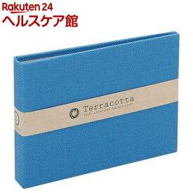 溶着式ポケットアルバム テラコッタ L判1段ポケット ブルー TER-LP-70-B(1冊)【ナカバヤシ】