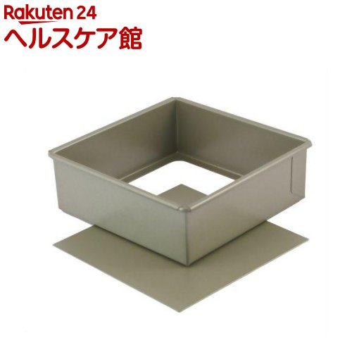 富士ホーロー ベイクウェアー 角型 デコレーション底取型 15cm 57290(1コ入)【フジホーロー】