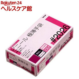 グローブマニア ビニール使い切り手袋 粉なし 2026 クリア L(100枚入)【グローブマニア(GLOVE MANIA)】