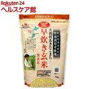 大潟村あきたこまち 早炊き玄米 無洗米(1kg)【spts4】【slide_g1】【more20】
