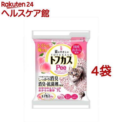 猫砂 おから トフカスピー(Pee) ピンク(7L*4コセット)【トフカスサンド】