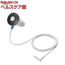 エレコム 充電機能付FMトランスミッター Φ3.5mmミニプラグ ホワイト LAT-FMY02WH(1コ入)【エレコム(ELECOM)】