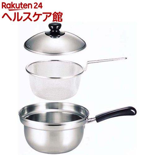 ゆで名人ザル付片手鍋20cm 27426(1コ入)