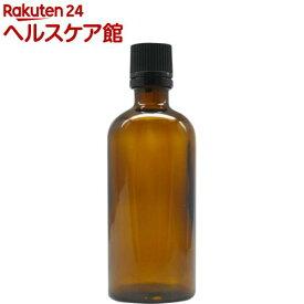 アロマアンドライフ Kシリーズ KENSO褐色ボトルガラス 100ml 黒バージンキャップ 3本(1セット)【アロマアンドライフ】