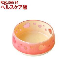 おいしく見えるワン食器 Mサイズ ピンクハート(1コ入)