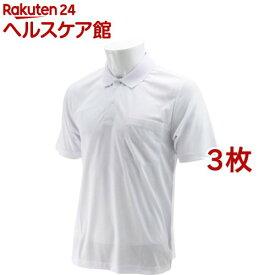 SK11 半袖ポロシャツ ホワイト Mサイズ M-WHT-1P(3枚セット)【SK11】