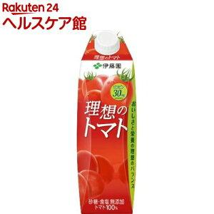 伊藤園 理想のトマト 紙パック 屋根型キャップ付容器(1L*6本入)【spts1】