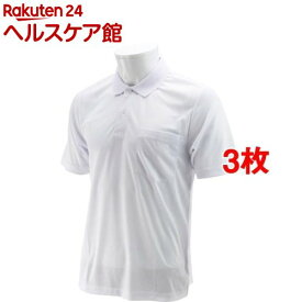 SK11 半袖ポロシャツ ホワイト Lサイズ L-WHT-1P(3枚セット)【SK11】