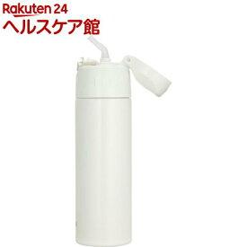 サーモス 真空断熱ストローボトル 0.55L クリームホワイト FHL-551 CRW(1コ入)【サーモス(THERMOS)】[水筒]