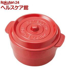 ココポット ラウンド レッド T-56440(1コ入)[お弁当箱]