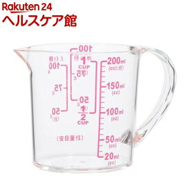 ENJOY KITCHEN 大きい目盛耐熱計量カップ200ml(1個)