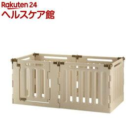 リッチェル ペット用 3ウェイサークル 6面70H ベージュ(1台)