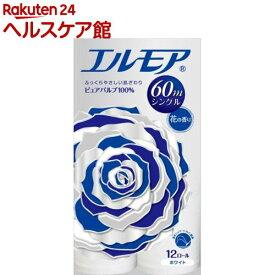 エルモア トイレットロール シングル 花の香り 60m(12ロール)【エルモア】