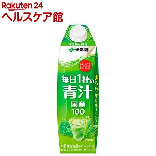 伊藤園 毎日1杯の青汁 紙パック 屋根型キャップ付容器(1L*6本入)【毎日1杯の青汁】