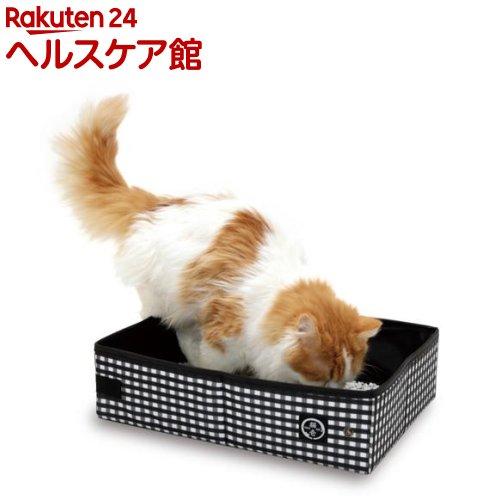 猫壱 ポータブル トイレ ブラック(1コ入)【猫壱】