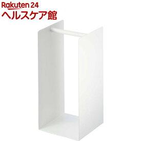 ハンガー収納ラック プレート ホワイト(1個)