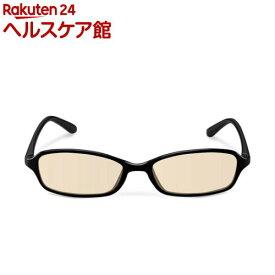 エレコム ブルーライトカットメガネ ブラウン スクエアフレーム PC眼鏡 G-BUB-S02BK(1個)【エレコム(ELECOM)】