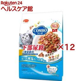 コンボ 猫下部尿路の健康維持 まぐろ味・減塩かつお節添え(120g*5袋入*12コセット)【コンボ(COMBO)】[キャットフード]