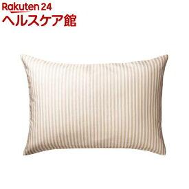 東京西川 枕カバー しなやかピロードレスリバーシブル ベージュ PJ98285694S1(1枚入)【東京西川】