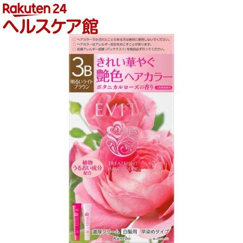 エビータ トリートメントヘアカラー3B 明るいライトブラウン(医薬部外品)(45g+45g)【EVITA(エビータ)】