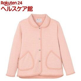 ハニカムニット 衿付きジャケット(婦人用) ピンク L 5553-A(1枚入)【エンゼル】
