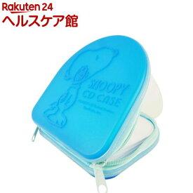 スヌーピー DVD・CDケース 24枚収納 ブルー(1コ入)