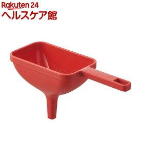 ハンドル付き漏斗 角型 アクア レッド(1個)