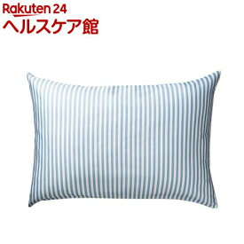 東京西川 枕カバー しなやかピロードレスリバーシブル ブルー PJ98285694S3(1枚入)【東京西川】