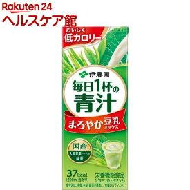 伊藤園 毎日1杯の青汁 まろやか豆乳ミックス 紙パック(200ml*24本入)【毎日1杯の青汁】