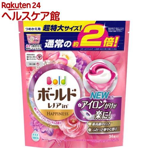 ボールド 洗濯洗剤 ジェルボール3Dプレミアムブロッサムの香り 詰め替え 超特大(34コ入)【ボールド】[ボールド 詰め替え]