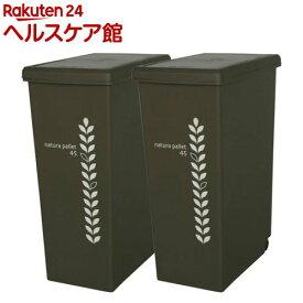 ゴミ箱 スライドペール チョコレートブラウン 45L(2コ組)