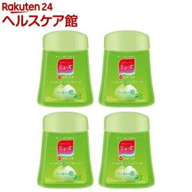 ミューズ ノータッチ泡ハンドソープ 詰替え ボトル グリーンティーの香り(250ml*4コセット)【ミューズ】