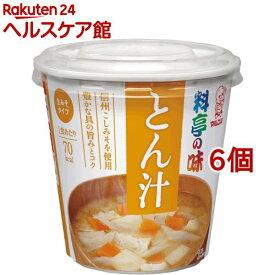 カップ 料亭の味 とん汁(6コ)【more20】【料亭の味】[味噌汁]