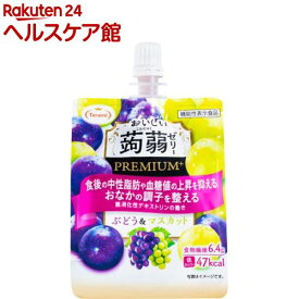 おいしい蒟蒻ゼリーPREMIUM+ ぶどう&マスカット(150g*6個入)