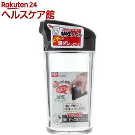 デリ DL プッシュ式しょう油差し Mサイズ ブラック(1コ入)【デリ(キッチン用品)】