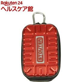 SK11 アルミツールポーチ シングルポケット SAT-1RD レッド(1コ入)【SK11】