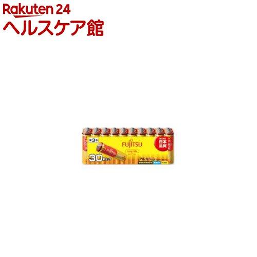 富士通 アルカリ乾電池 単3 30本パック ロングライフ(1セット)