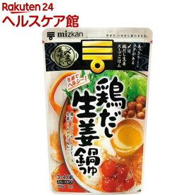 ミツカン 〆まで美味しい鶏だし生姜鍋つゆ ストレート(750g)【ミツカン】