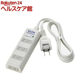 エルパ 耐雷 コード付タップ 4個口 2m 白 WBT-4020SBN(W)(1コ入)【エルパ(ELPA)】