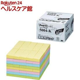 ポスト・イット ふせん 業務用パック 75mm 5004-K(100枚*80パッド)