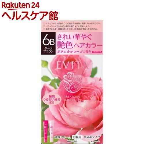 エビータ トリートメントヘアカラー6B ダークブラウン(医薬部外品)(45g+45g)【EVITA(エビータ)】