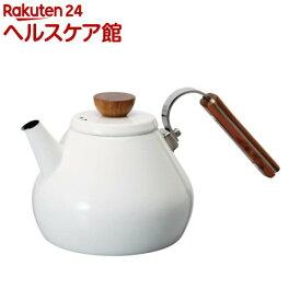 ハリオ ボナ 琺瑯ティーケトル BTK-80-W(1コ入)【ハリオ(HARIO)】