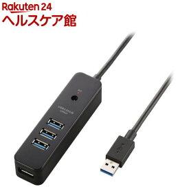 エレコム USBハブ 3.0 セルフパワー バスパワー マグネット 4ポート U3H-T410SBK(1個)