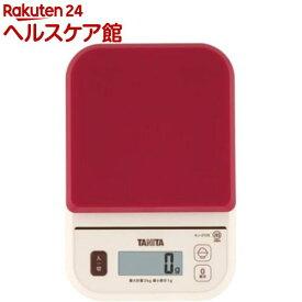 タニタ デジタルクッキングスケール レッド KJ-210S-RD(1コ入)【タニタ(TANITA)】