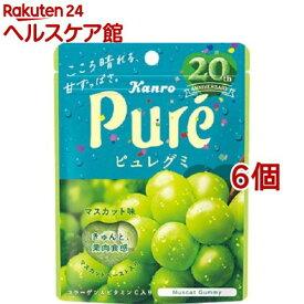 カンロ ピュレグミ マスカット味(56g*6コセット)【more20】【ピュレグミ】