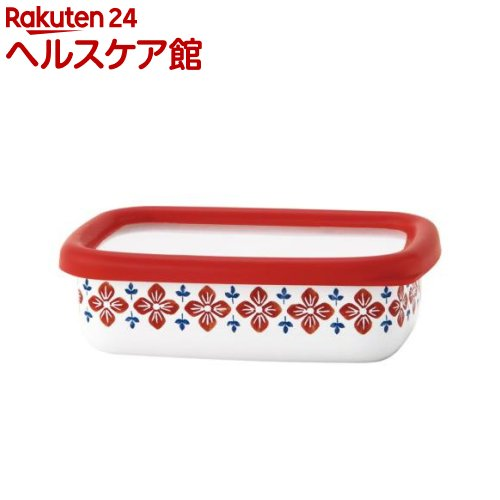 クッカ ホーロー浅型角容器 S レッド CU-S・R(1コ入)【クッカ(cukka)】